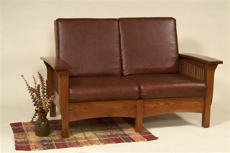 amish mission morris loveseat craftsman upholstery living
