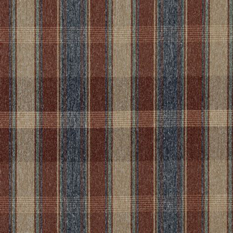country upholstery fabric rustic red blue green and beige plaid country
