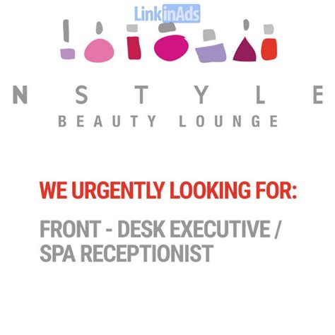salon front desk jobs urgently hiring front desk executive spa receptionist
