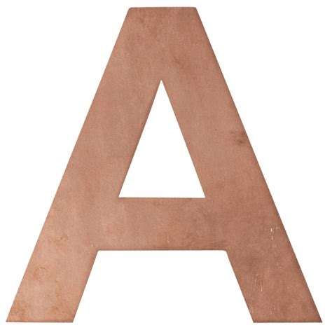 Letters In numbers letters copper wall mount robert plumb store