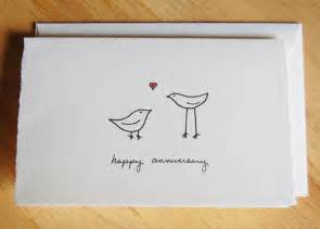 cute anniversary card simple love birds by littleshopofellesee