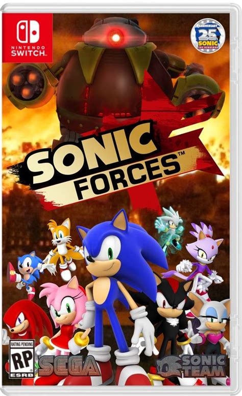 Nintendo Switch Sonic Forces Bonus Edition updated sonic 2017 forces box fan made not