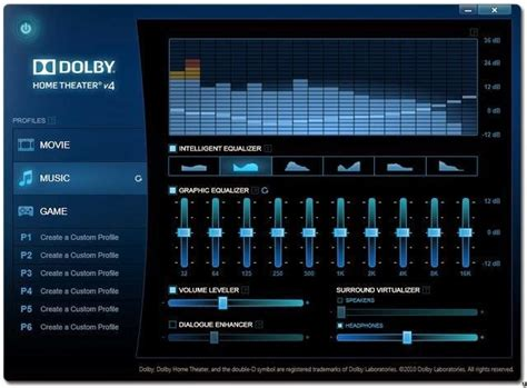 Home Theater Advan dolby home theater v4