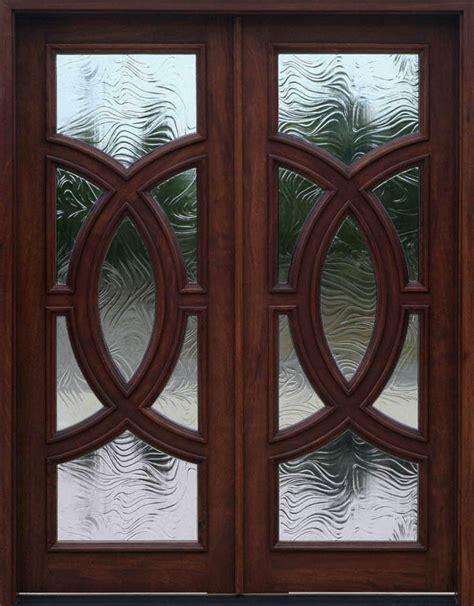 Exterior Wood Front Doors With Glass Mahogany Exterior Door Olympus Baroque Glass
