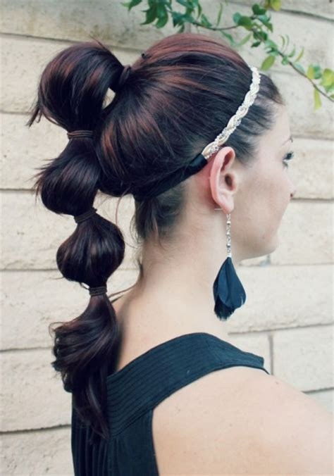 styles to do with poofy hair triple poof ponytail ma nouvelle mode