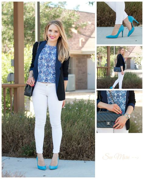 Croptile So What Z shades of blue milly tile crop top light blue pumps