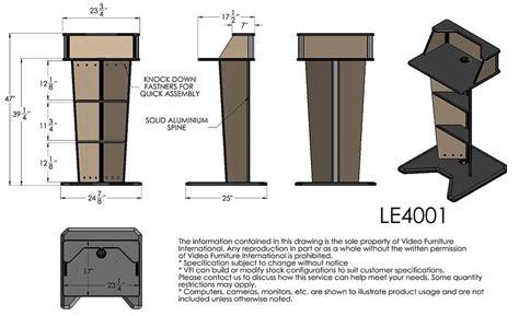 standard podium dimensions vfi le  lectern