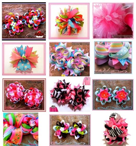 Different Types Of Hair Bows by 1000 Images About Hair Bow Tutorials On