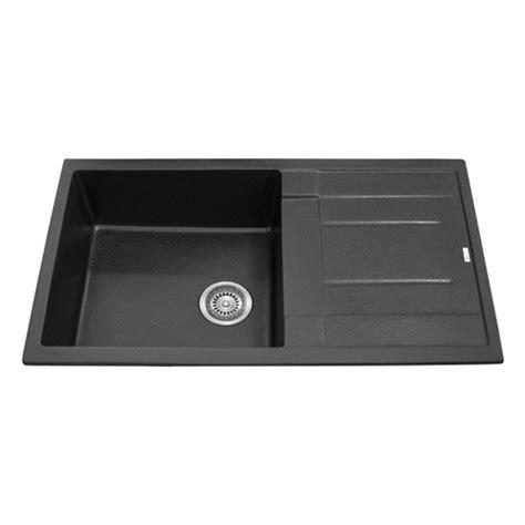 leisure sinks euroline single bowl and drainer 860mm x single bowl black granite stone topmount kitchen sink with