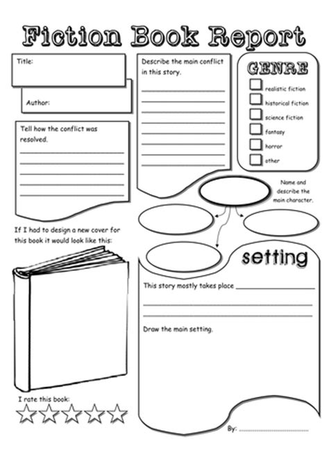 Middle School Book Report Template Pdf