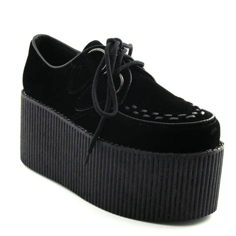 high flat platform shoes high platform womens trendy retro flat