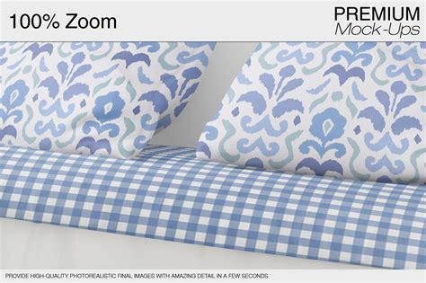 pillows curtains set kitchen by mockups