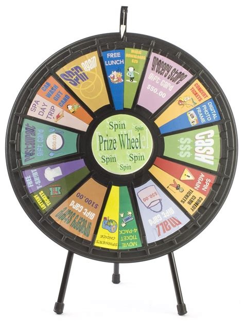 spin the wheel template countertop prize wheels