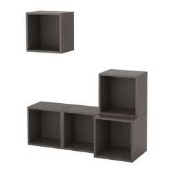 wall mounted cabinets ikea eket wall mounted cabinet combination gray ikea