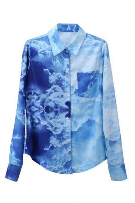 Blousr Cloud cloud print blouse