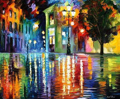 art 5 176 constituci 211 wonderful night palette knife oil painting on canvas by