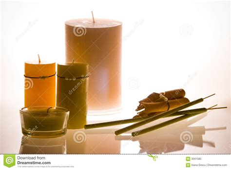 Candle Light Aromatherapy Nede02 White candles aromatherapy stock photo image 3041580