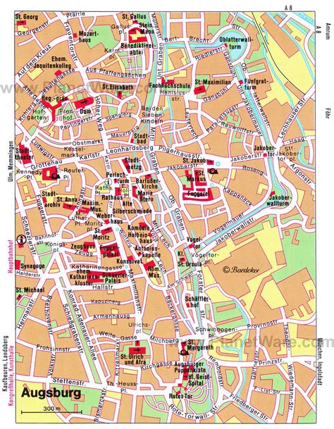 map augsburg germany 10 top tourist attractions in augsburg planetware
