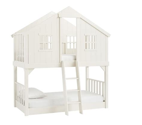 tree house bunk bed plans tree house twin over twin bunk bed pottery barn kids