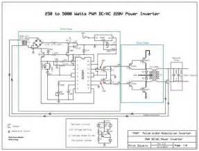 250w 5000w sg3524 dc ac inverter circuit electronics