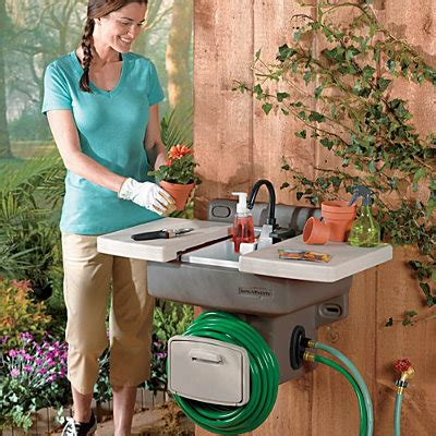 outdoor sink station no plumbing outdoor garden sink craziest gadgets