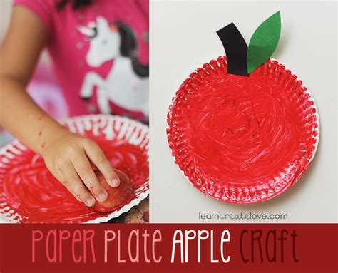 Paper Plate Apple Craft - paper plate apple craft