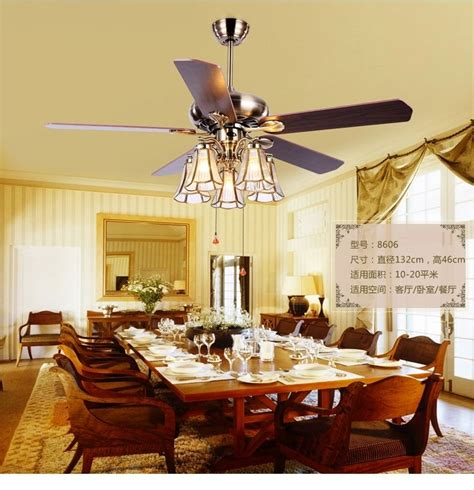 Dining Room Ceiling Fans With Lights American Copper Shade 52inch Ceiling Fan Lightstiffany