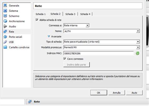 virtualbox rete interna iptables machines and interdipendenza renato morano