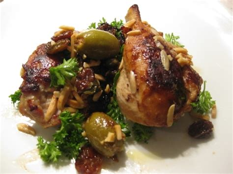Link Chicken With Almonds And Green Olives by Lovely Legs Chicken With Almonds Capers Lemon Raisins