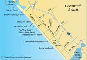 where is oceanside california on a map oceanside california s best beaches