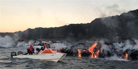 lava boat tours hawaii lava boat tour hawaii business insider