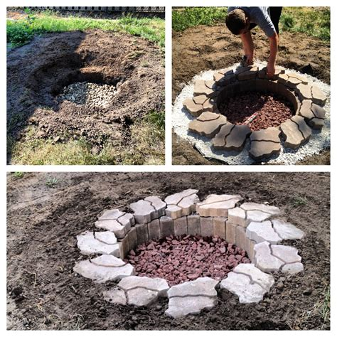 Diy In Ground Fire Pit For The Home Pinterest In Ground Firepit