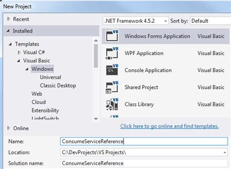 website templates for visual studio 2015 consume web service as service reference in visual studio 2015