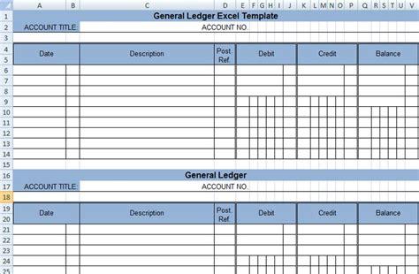 4 Ledger Statement Formats In Excel Excel Xlts Excel Ledger Template