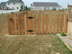 cedar picket fence dog ear spaced chain link fence