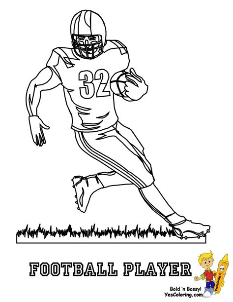 Nfl Football Helmet Coloring Page Anti Skull Cracker Football Player Color Pages