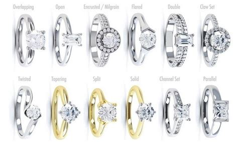 Engagement Ring Band Styles by Engagement Ring Guide Settings Styles