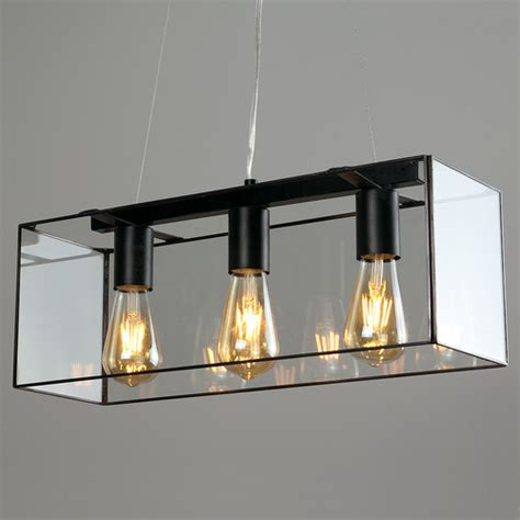 Industrial Style Kitchen Island Lighting Industrial Style 3 Way Modern Caged Ceiling Pendant Bar In Light Black