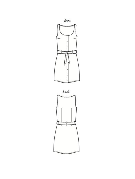pattern maker adelaide s3011 adelaide tank dress woven with snaps and belt