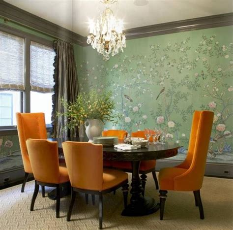 orange dining room how to use orange colors creatively and add interest to
