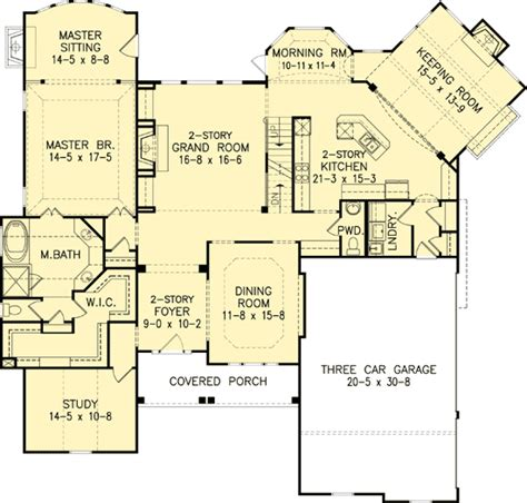 master down classic house plan 15608ge 1st floor master down classic home plan 15610ge architectural