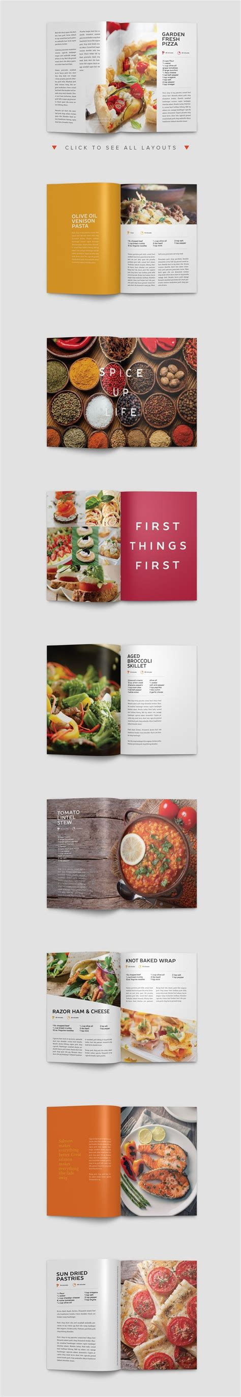 template indesign livre modern cookbook indesign template by prixel creative on