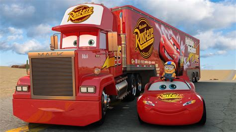 lighting mcqueen and mack disney pixar cars 3 mack teleports lightning mcqueen