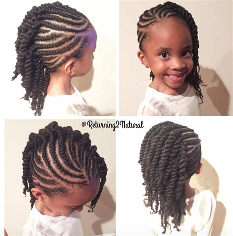Short Braided Style For Babies | cute kid friendly style by returning2natural read the