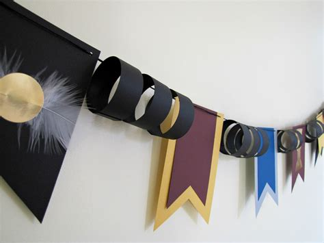 Diy Harry Potter Decorations by Harry Potter Paper Bunting Flags Quidditch Cup Birthday