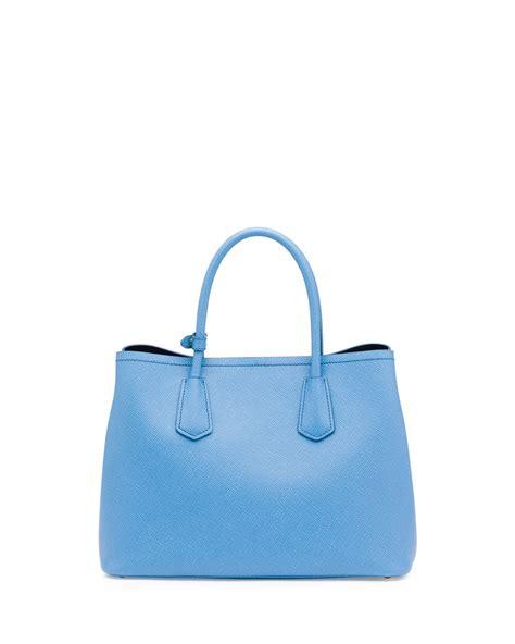 Tote Bag Prada prada saffiano cuir small tote prada navy blue handbag