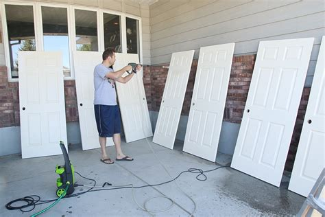 Spray Painting Interior Doors Painting Vs Spraying Our Interior Doors Chris