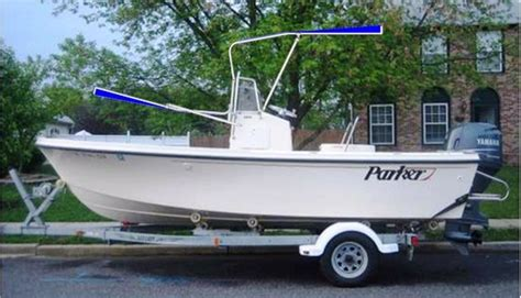 parker boat t top shadow folding t top kit images from rnr marine