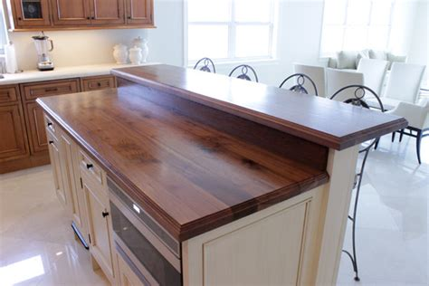wooden kitchen island top traditional kitchen