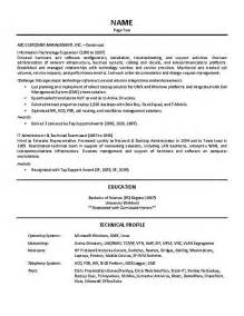 Information Technology Team Leader Sle Resume by It Supervisor Resume Exle